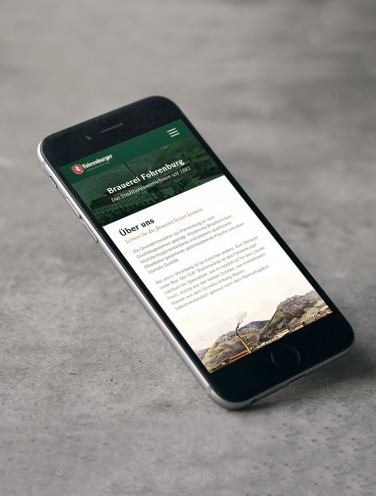 Fohrenburger Website Redesign - Mobile Version