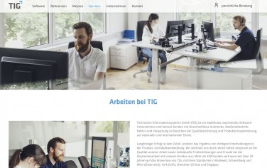 tig website screenshot